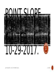 10-29-2018. Point-Slope Form.Walter..pptx