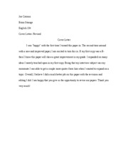 Cover Letter 2 Sequ. II