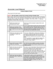 crt 205 critical thinking final week 9 Managed to get an a for my paper from a really picky teacher - thank you studypool week 3 assignment excel probability business answered by mikeford.
