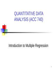 Multiple Regression-