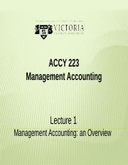 Management Accounting Overview (1)