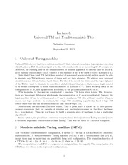CMPT 308 Universal Turing Notes