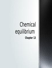 Chemical equilibrium - chapter 13.pptx