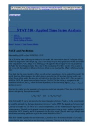 node23 PACF and Prediction   STAT 510 - Applied Time Series Analysis