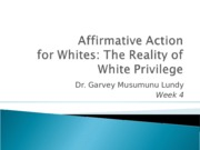 Affirmative Action for Whites