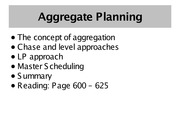 Aggregate-Planning