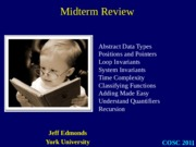 EECS 2011 Midterm Review
