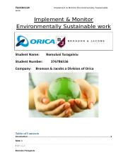 Implement & Monitor Environmentally sustainable work.doc