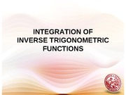 Lesson 8 InverseTrigFunctions-Integration