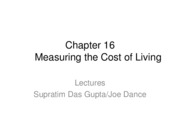 Chapter 16 Cost of Living
