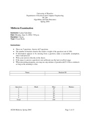 SE-240-Midterm_exam and solutions 2004 spring