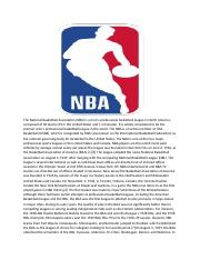 The National Basketball Association.docx
