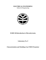 Lecture Notes E on Microelectronics