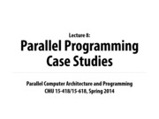 Carnegie Mellon Parralel Computing Notes on Lecture 8