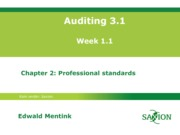 Auditing 3.1 college 1, chptr 2, eme03