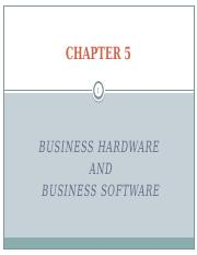 Chapter 5 hardware and software