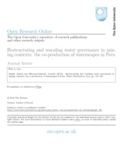 13Restructuring and rescaling water governance