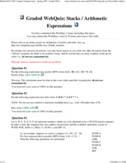 Stacks _ Arithmetic Expressions [C]