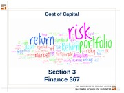 Section 03.  Cost of Capital
