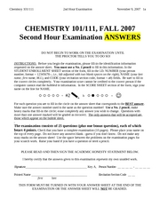 CHEM101-2007FALL-EXAM_2-ANSWERS
