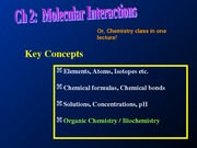 Chapter 2 Molecular Interactions