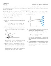 Optics Practice Sheet Solutions