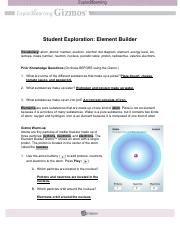 student exploration element builder ElementBuilderSE.pdf - Student Exploration Element Builder ...