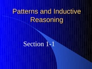 1-1 Inductive Reasoning and Conjecturing