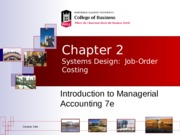 Systems Design_Job order costing