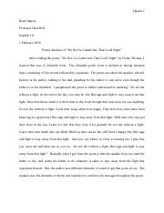 ENGL 111 Essay #1 Final Draft