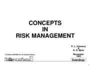 Chapter 1 Concepts in Risk Management