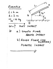 MECH 350 Impact Example 3 Solutions