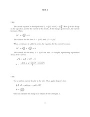 Problem Set 3 Solution on Classical Electrodynamics