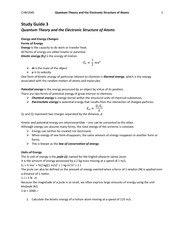 ch.3 Quantum Theory and the Electronic Structure of Atoms-Study Guide