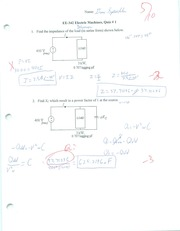 Impedance of Load Quiz