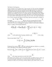 The Hartree-Fock Equations Notes
