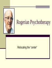Lecture9. Rogerian Therapy
