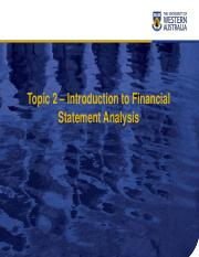 lecture 2 - Introduction to Financial Statement Analysis