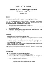 Structured Essay Test_2014