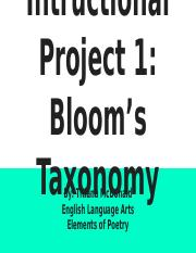 Intructional Project 1_ Bloom's Taxonomy.pptx