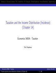 Tax and Income-Incidence 3405