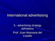 3 advertising strategy definitions