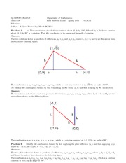 First Midterm Exam - Solutions