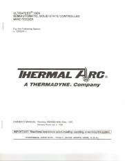 THERMAL ARC ULTRAFEED 1000