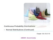 Continuous Distributions-Part two