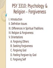 PSY 3310 - 21 - Forgiveness - Instructor.pptx