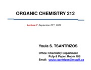 CHEM 212 Lecture 7