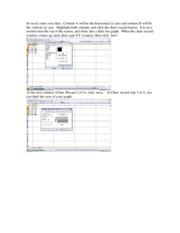 How to make a graph in Excel 2003-1