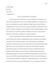 Carolyn Ziegler - Self-Reliance Personal Narrative2.docx