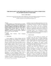 THE RESEARCH AND IMPLEMENTATION OF CLOUD COMPUTING.pdf